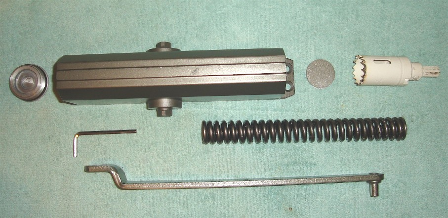 Basic parts of a door closer. & DOOR CLOSER STEAM ENGINE