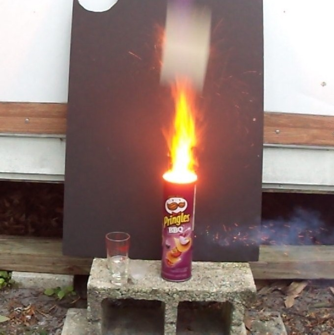 PRINGLES CAN CANNON AND